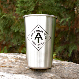 16 oz food-grade stainless steel tumblers are durable, versatile, and love to go hiking on the A.T.