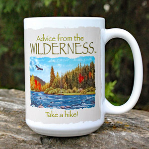 Advice from the wilderness mug.