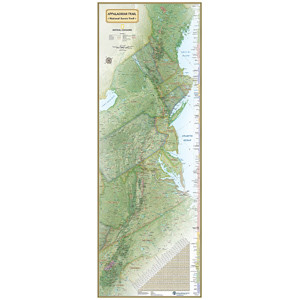 Laminated - National Geographic A.T. Poster Map