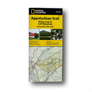The Bailey Gap to Calf Mountain Topographic Map Guide makes a perfect traveling companion when traversing the central Virginia section of the Appalachian Trail.