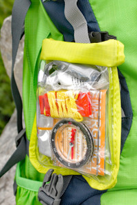 At only 5.5oz, this ultralight survival kit is conveniently packed into a weather resistant roll-up bag.
