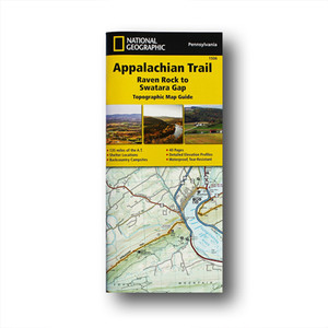 The Raven Rock to Swatara Gap Topographic Map Guide makes a perfect traveling companion when traversing the southeastern Pennsylvania section of the Appalachian Trail.