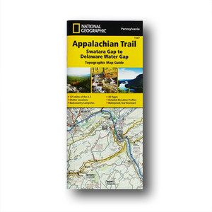 The Swatara Gap to Delaware Water Gap Topographic Map Guide makes a perfect traveling companion when traversing the northeastern Pennsylvania section of the Appalachian Trail.