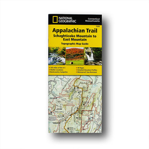 The Schaghticoke Mountain to East Mountain Topographic Map Guide makes a perfect traveling companion when traversing the Connecticut and Massachusetts sections of the Appalachian Trail.