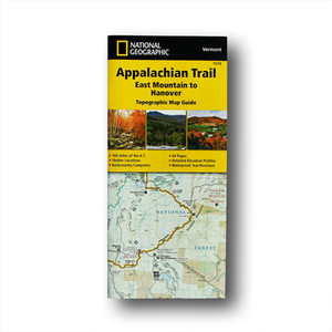 The East Mountain to Hanover Topographic Map Guide makes a perfect traveling companion when traversing the Vermont section of the Appalachian Trail.