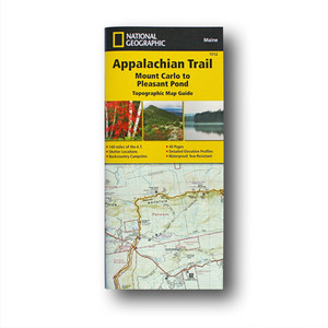 The Mount Carlo to Pleasant Pond Topographic Map Guide makes a perfect traveling companion when traversing the southern Maine section of the Appalachian Trail.