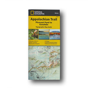 The Pleasant Pond to Katahdin Topographic Map Guide makes a perfect traveling companion when traversing the northern Maine section of the Appalachian Trail.