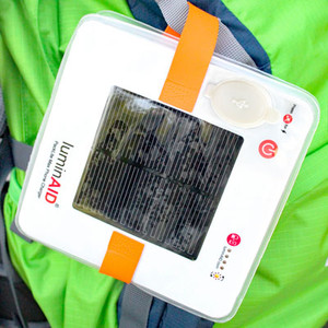 Appalachian Trail Conservancy solar lantern and phone charger.