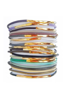 Gorgeously Neutral Leather Cord Bangles