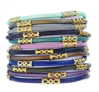 Neutral Earth Toned Chloe Leather Bracelets