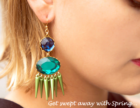 spring jewelry fashion designer jewelry spring collection spring earrings colorful spring earrings new spring earrings new spring jewelry