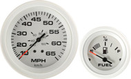 Arctic 6-Gauge Set, (Speed,Tach,Fuel,Volt, W/Temp,Oil/Pressure)