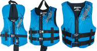 """Youth, Blue/Black, 50-90 lbs., 25-29"""" Chest"""
