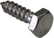 Lag Screws, SS, 5/16X1-1/2, (2)