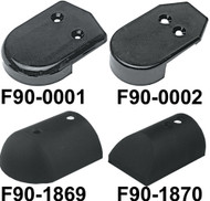 Nylon End Caps, Black, F/V11-2423, Pair