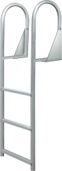 3-Step Hinged Dock Ladder, Wide Step