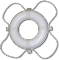 "Ring Buoy, 24"", White"