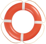 "Ring Buoy, 24"" White w/White Rope"