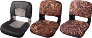 All-Weather High-Back Seat, Black Shell, Mossy Oak Shadowgrass, Vinyl Cushion