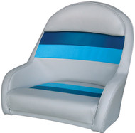 Captain's Chair, White/Navy/Blue
