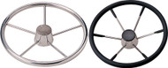 "6-Spoke 15-1/8"" Wheel, 25°, Black Cap"
