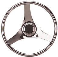 Steering Wheel, Stainless Steel, 15-1/2""