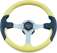 Leather Look Wheel, Yellow