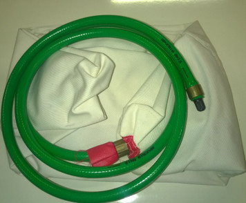 "15"" (375mm) with 6' (1.8m) inflation tube and Schrader valve connector"