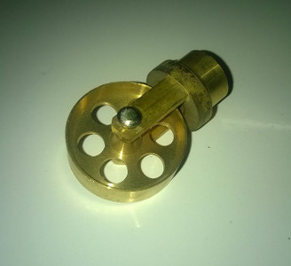 Brass Clearing Wheel for Universal Rods.