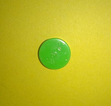 A single Green burst disc
