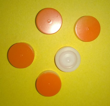 A pack of 5 Orange burst discs