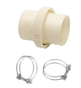 50mm PVC Hose Coupling C/W 2 Hose Clips