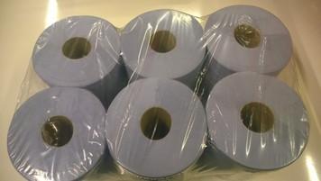 Blue Roll Paper Towel - 6 Roll Pack (190mm x 190mm)