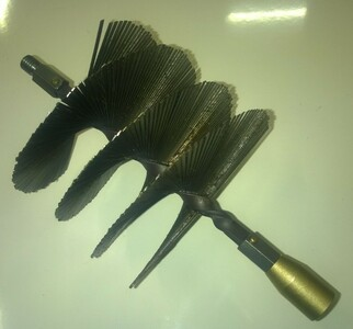 140mm Flat Strip Steel Brush for use with Lockfast Drain Rods