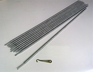 13mm Coiled Spring Steel Rod Set