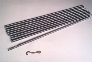 19mm Coiled Spring Steel Rod Set