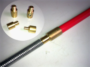Adaptor to attach 19mm Coiled Spring Rod to Universal Rods