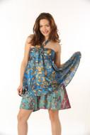 100 Pcs. Wholesale Lot Vintage Silk Sari Magic Wrap Skirt Halter Tube Maxi Dress