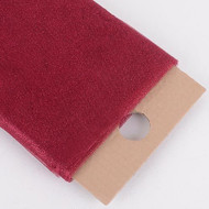"54"" Inch X 10 Yards Premium Glitter Tulle Fabric Bolt (Burgundy)"
