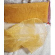 "54"" Inch X 10 Yards Premium Glitter Tulle Fabric Bolt (Gold)"
