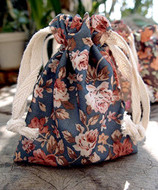 "AK-Trading 3"" x 4"" Vintage Floral Favor Bags for Gifts, Decoration & Favors - Pack of 12 (Gray)"