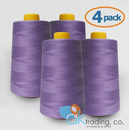 AK-Trading 4-Pack LAVENDER Serger Cone Thread (6000 yards each) of Polyester thread for Sewing, Quilting, Serger #630