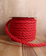 AK-Trading 6mm x 10 Yards Jute Rope Cord Twine (Red)
