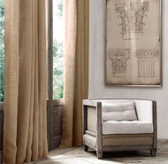 "Ak-Trading Burlap Drape Panel 2pc Set Backdrop 100% Jute Curtain 5ft x 7ft (60"" X 84"") Natural"
