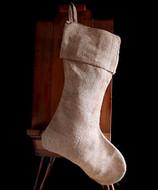 """AK-Trading Burlap Jute Holidays Christmas Stockings - Pack of 6 (Natural Burlap, 10"""" 24""""H x 14"""" foot)"""