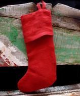 "AK-Trading Burlap Jute Holidays Christmas Stockings - Pack of 6 (Red Burlap, 16"" x 10"")"