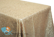 AK-Trading CHAMPAGNE Sequin Rectangular Tablecloth, Rain Drops Sequin Taffeta Fabric Sequin Table Cover- CHAMPAGNE