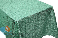 AK-Trading MINT GREEN Sequin Rectangular Tablecloth, Rain Drops Sequin Taffeta Fabric Sequin Table Cover- MINT GREEN