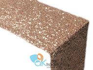 AK-Trading Sequin Runner, 12x72 Inch Rain Drops Sequin Taffeta Fabric Sequin Runner (Blush)