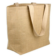 Eco friendly Jute/ Burlap Natural Large Grocery Shopping Tote Holidays Beach Bags